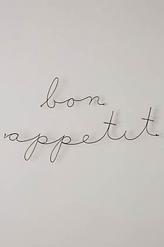 Wire Wall Words | Anthropologie Home