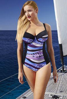 766257bc34a65 Tropiculture Monaco Control Underwire Swimsuit Plus Size Underwire Swimwear
