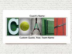 Tennis Coach Gift  Team Signature Print  Tennis by StudioEGifts