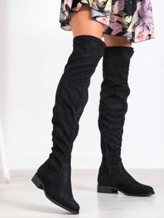 Semišové mušketierky Knee Boots, Shoes, Fashion, Moda, Zapatos, Shoes Outlet, Fashion Styles, Knee Boot, Shoe