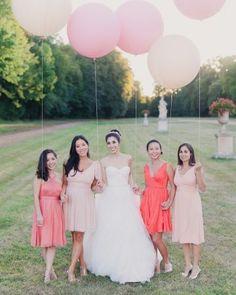Large baloons at a wedding