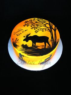 Cake hunting hunt moose roe deer gâteau chasse orignal chevreuil airbrush hunter chasseur