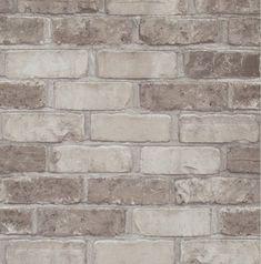 Williston Forge x Faux Running Brick Wallpaper Color: Tan de piedra en recamaras Williston Forge x Faux Running Brick Wallpaper Color: Tan Wallpaper Color, Faux Brick Wallpaper, Wall Wallpaper, Stone Wallpaper, Brick Wall Paneling, Faux Brick Walls, Faux Brick Wall Panels, Home Depot, Faux Brick Backsplash