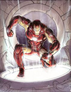 Iron Man by Yildiray Cinar, London Super Comic Con 2013. Comic Art