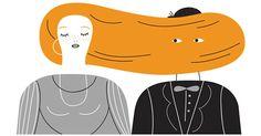 This wonderful illustration by Olimpia Zagnoli | HAIR CLUB