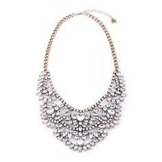 Love Story Statement Necklace (635 UAH) ❤ liked on Polyvore featuring jewelry, necklaces, holiday jewelry, evening jewelry, cocktail jewelry, crystal jewelry and special occasion jewelry