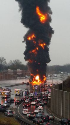 Fuel Truck explosion in NJ 12/6/14