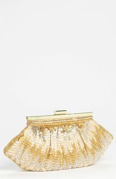 Nina Beaded Frame Clutch | Nordstrom in Gold/Champagne/Silver