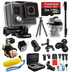 GoPro HD HERO Waterproof Action Camera Camcorder with Accessories Bundle Package includes 32GB…