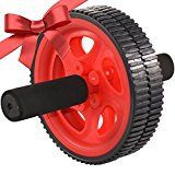 ACF Ab Roller for Abdominal Exercise - Best Ab Power Wheel for Strengthening Core (RED AB WHEEL)