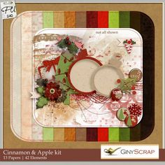 Cinnamon & Apple kit by Giny Scrap : Scrap Art Studio, Where Creativity Soars