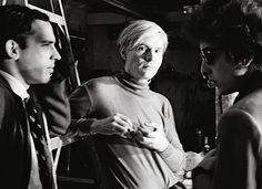 John Brockman, Andy Warhol and Bob Dylan