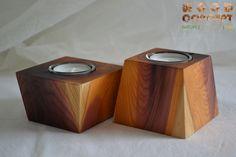 Teelicht 2er-Set (Art. 3713) Holzart Eibe Abmesung 8 x 8 x 5 + 7cm