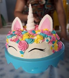 Unicorn Cake #colors #unicorn #cute
