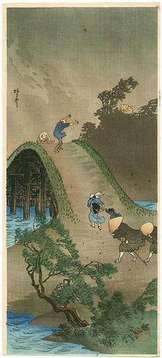 """""""Arai"""", Takahashi Hiroaki (Shotei) (1871-1945) - ca.1930s."""