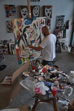 kiki valdes - studio painting