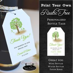 Tree Rustic Favor Tags.  Wedding Favors  by creatingapapermemory