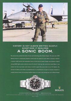 Vintage Rolex, Vintage Watches, Old Watches, Watches For Men, Nice Watches, Vintage Advertisements, Vintage Ads, Rolex Explorer Ii, Rolex Air King