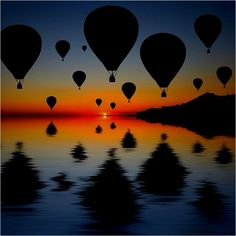 hot air balloons...