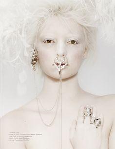 Magazine: FAINT Issue: Dream Anatomy  March 2013  Editorial: Sleeping Beauty Makeup: Andi Coventon Stylist: Alexandre Dubois Photographer: Luzena Adams