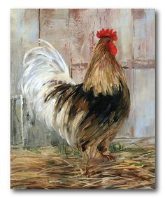 This Rooster Wrapped Canvas is perfect! #zulilyfinds