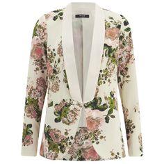 VILA Women's Flourish Spring Blazer - Pristine (2.015 RUB) ❤ liked on Polyvore featuring outerwear, jackets, blazers, blazer, coats, tops, white, white blazer, thin jackets and white jacket