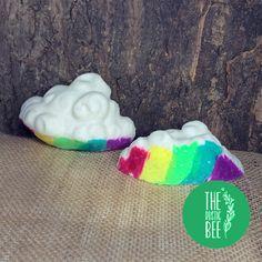 A cascade of colour makes this bath bomb extra fun! Rainbow Bath Bomb, Fizzy Bath Bombs, Sweet Almond Oil, Sunny Days, Bee, Clay, Colour, Rustic, Clays
