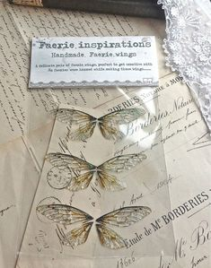 Set of three small faerie wings por UndertheIvy2 en Etsy