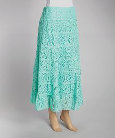 Another great find on #zulily! IRE Mint Tiered Floral Mesh Maxi Skirt by IRE #zulilyfinds
