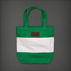 Green Striped Summer Tote