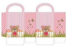 Bear Themed Party: Free Printables, Decoration Ideas and More. Free Printable Party Invitations, Free Printable Cards, Free Printables, Paper Toys, Paper Crafts, Teddy Bear Party, Candy Bar Labels, Party Kit, Baby Scrapbook