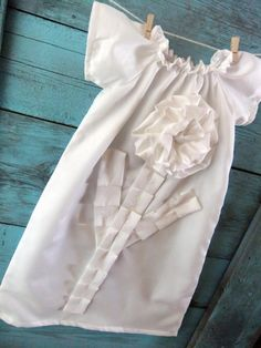 Baby baptism DRESS in pure white the PLAIN by apricotsandlollipops, cute!