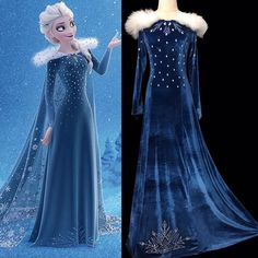 Elsa, Anna, Kristoff and Olaf are going far in the forest to know the truth about an ancient mystery of their kingdom. Frozen 2 Elsa Dress, Princess Elsa Dress, Disney Princess Frozen, Anna Dress, Disney Princess Dresses, Olaf Frozen, Disney Dresses, Princess Costumes, Elsa Cosplay