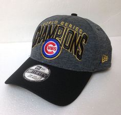 369ab749591  ReadSize  CHICAGO CUBS WORLD SERIES CHAMPIONS CHAMPS HAT dark gray GOLD  SHIMMER  NewEra  ChicagoCubs
