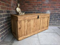 Rustic Storage Bench Handcrafted Reclaimed wood Seating by ...