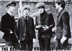 Beatles Hard Days Night Portrait Music Poster 23x33