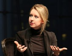 Elizabeth Holmes speaking at the Forbes Healthcare Summit last December. Credit: Glen Davis