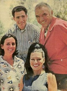 Lorne Greene and his wife Nancy Deale Greene with their ... Belinda Bennet