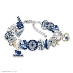 Fashionable Fan Cowboys Charm Bracelet
