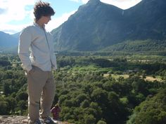Vista al valle desde la piedra.