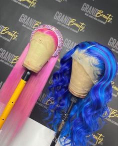 Colorful Lace Front Wigs, Multicolored Hair, Pretty Hair Color, Beautiful Hair Color, Baddie Hairstyles, Weave Hairstyles, Hairdos, Birthday Hairstyles, Creative Hair Color