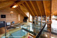 Arte Rovere Antico - Photo by Duilio Beltramone for Sgsm.it - Casa Soppalco Vetro - Sestriere Italy - Wood Interior Design - Glass - Living - Mountain design