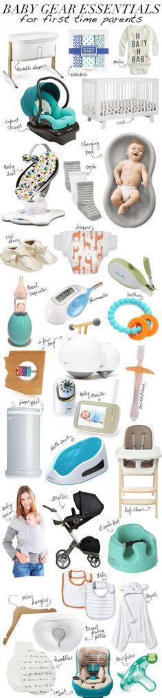 30 productos esenciales que los papas primerizos deben de tener.
