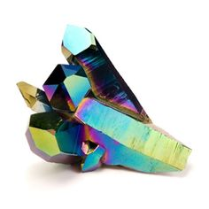 Patternity Rainbow Ridges Titanium Quartz Crystal