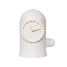 Introduce character to the home with this Base table clock from LEFF amsterdam. Made from ceramic, this clock is inspired by industrial shapes and details, with curvaceous lines and an eye-catching ap