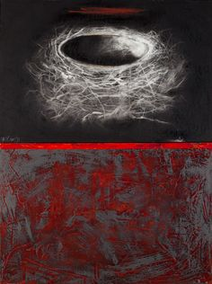 Tania Gleave(Canadian) Sanctuary to harvest healing 2011 intaglio on paper on panel, graphite, oil on canvas