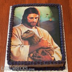 As if this picture couldn't get any awesomer...now it's on a CAKE.