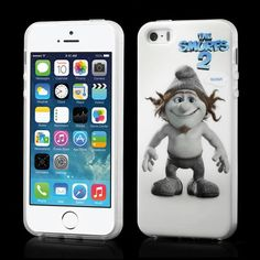 Smurf cover Hackus voor iPhone 5 en 5S #covermaniabe #iphonehoesje #iphonecover www.cover-mania.be