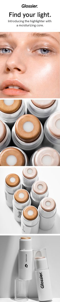 Introducing the universe's first dew-infused highlighting stick—Haloscope. One swipe gives a fresh, dewy finish that's never dry or glittery. In two essential shades for two intentions: Quartz for a universally flattering, pearlescent highlight, and Topaz for a healthy, sun-kissed glow. Head to Glossier.com for yours.