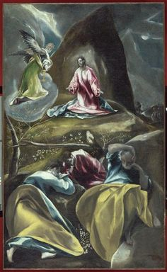 Christ in the Olive Garden by El Greco (Domenikos Theotokopoulos), c 1600, oil on canvas, 138 x 92 cm, Musée des Beaux-Arts, Lille